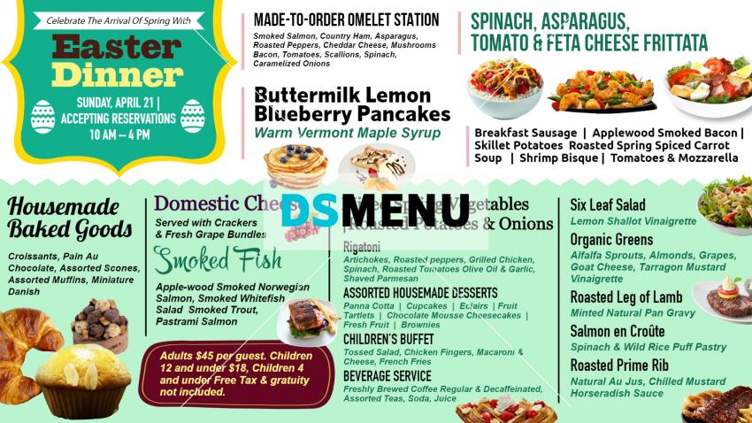 Download Easter Dinner Menu for Digital Signage