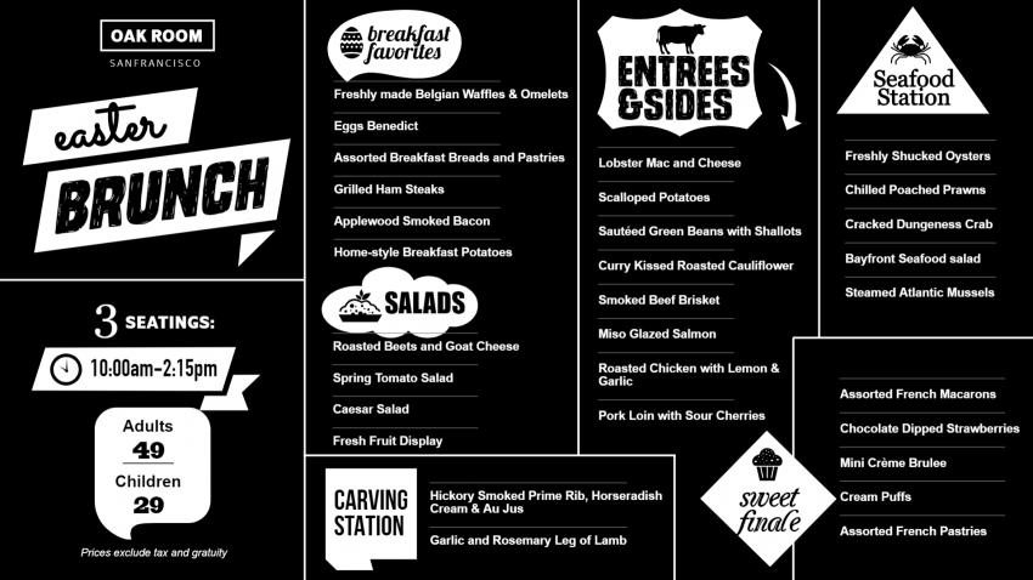 Black bold Easter Chalk Menu Template for Restaurants