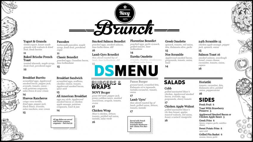 Download Brunch Menu Design for free for digital signage