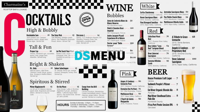 Download Free Bar Menu Board Design for Digital Signage